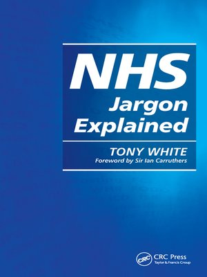 cover image of NHS Jargon Explained