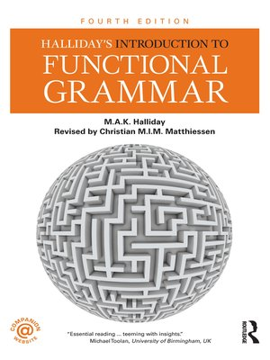 cover image of Halliday's Introduction to Functional Grammar