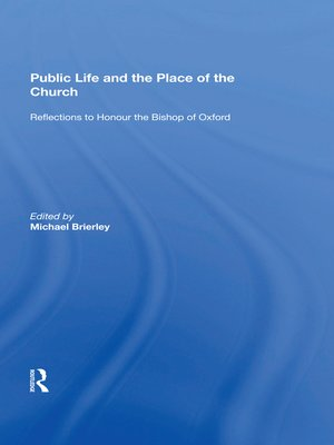 cover image of Public Life and the Place of the Church