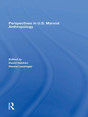 cover image of Perspectives In U.s. Marxist Anthropology