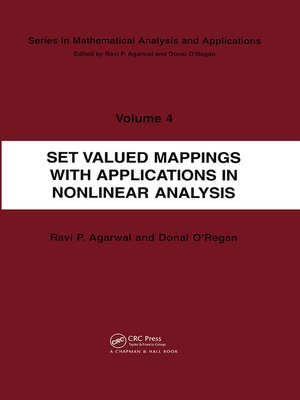 cover image of Set Valued Mappings with Applications in Nonlinear Analysis