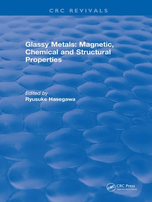 cover image of Glassy Metals