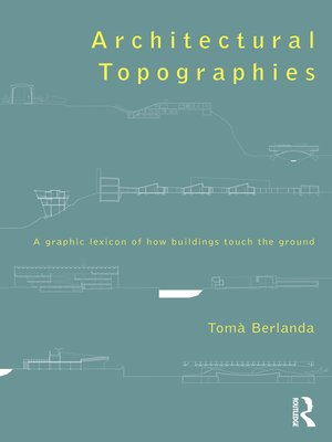 cover image of Architectural Topographies