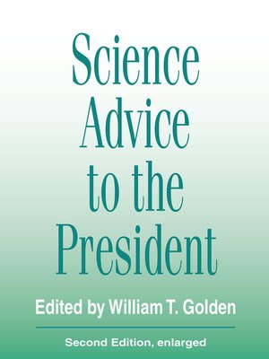 cover image of Science Advice to the President