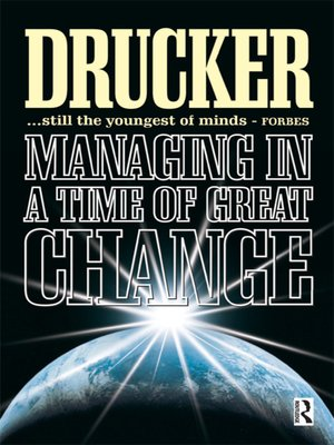 cover image of Managing in a Time of Great Change
