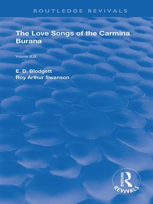 cover image of The Love Songs of the Carmina Burana