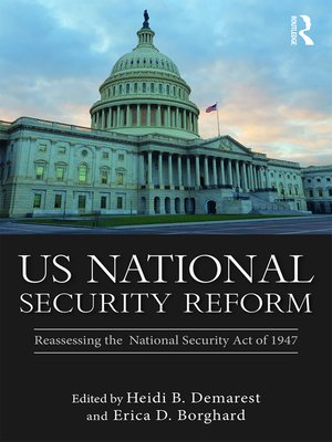 cover image of US National Security Reform
