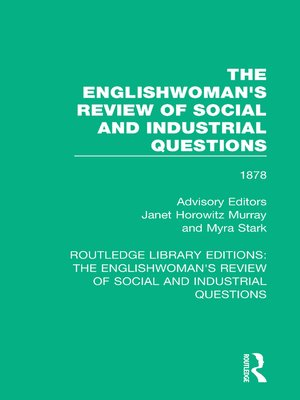 cover image of The Englishwoman's Review of Social and Industrial Questions