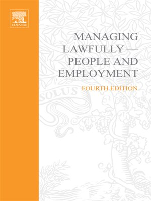 cover image of Managing Lawfully--People and Employment