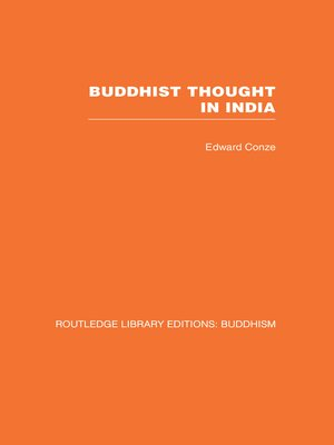 cover image of Buddhist Thought in India