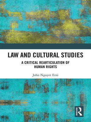 cover image of Law and Cultural Studies