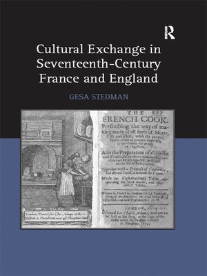 cover image of Cultural Exchange in Seventeenth-Century France and England
