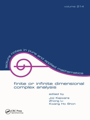 cover image of Finite or Infinite Dimensional Complex Analysis