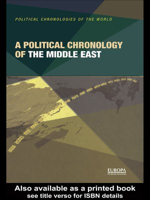cover image of A Political Chronology of the Middle East