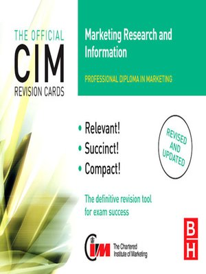 cover image of CIM Revision Cards Marketing Research and Information