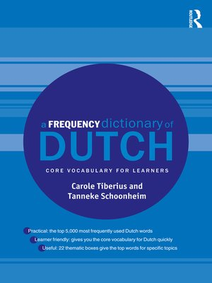 cover image of A Frequency Dictionary of Dutch