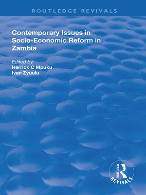 cover image of Contemporary Issues in Socio–Economic Reform in Zambia