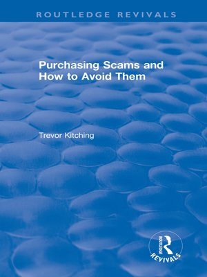 cover image of Purchasing Scams and How to Avoid Them