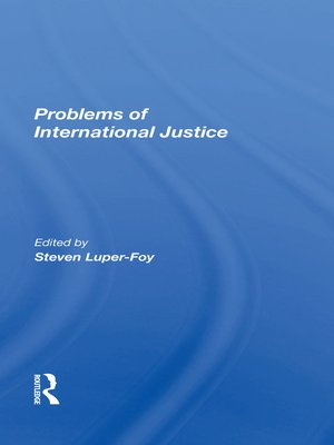 cover image of Problems of International Justice