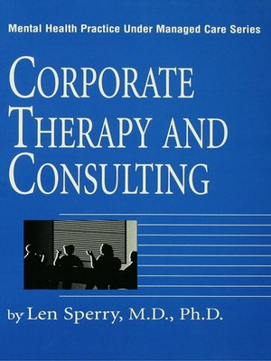 cover image of Corporate Therapy and Consulting
