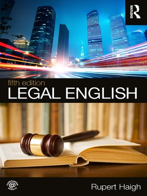 cover image of Legal English