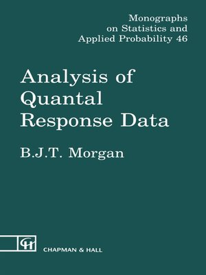 cover image of Analysis of Quantal Response Data