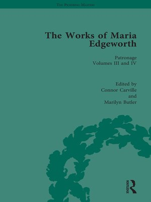 cover image of The Works of Maria Edgeworth, Part I Vol 7