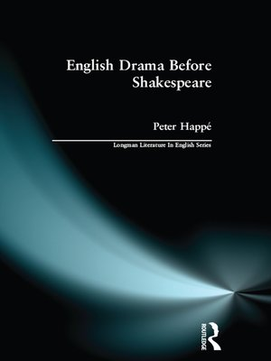 cover image of English Drama Before Shakespeare