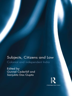 cover image of Subjects, Citizens and Law