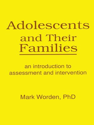 cover image of Adolescents and Their Families