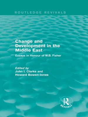 cover image of Change and Development in the Middle East (Routledge Revivals)