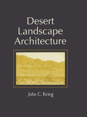 cover image of Desert Landscape Architecture