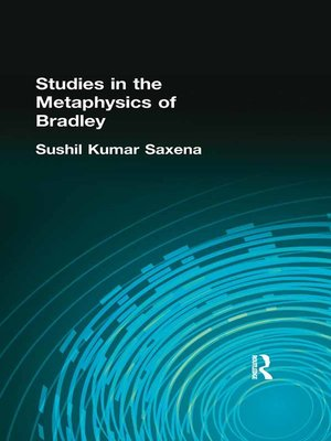 cover image of Studies in the Metaphysics of Bradley