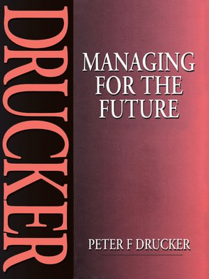 cover image of Managing for the Future