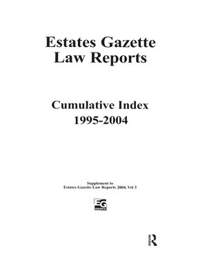 cover image of EGLR 2004 Cumulative Index