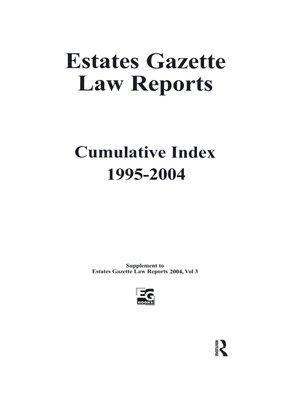 cover image of EGLR 2004 Cumulative Index