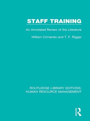 cover image of Staff Training