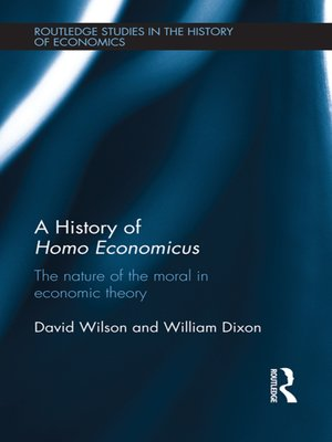 cover image of A History of Homo Economicus