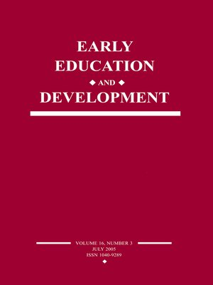 cover image of Early Education and Development