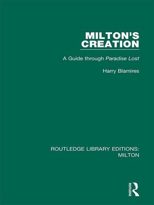 cover image of Milton's Creation