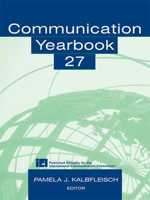 cover image of Communication Yearbook 27