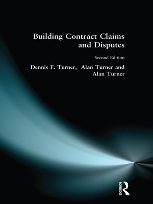 cover image of Building Contract Claims and Disputes