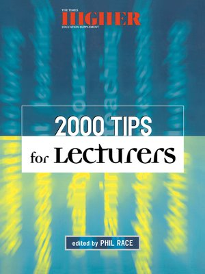 cover image of 2000 Tips for Lecturers