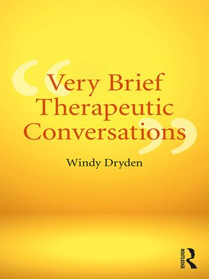 cover image of Very Brief Therapeutic Conversations