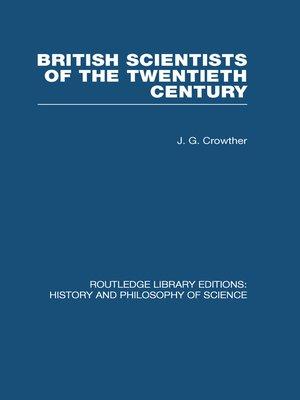 cover image of British Scientists of the Twentieth Century