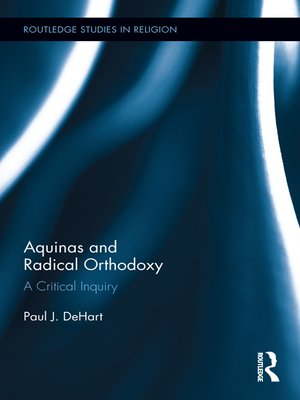 cover image of Aquinas and Radical Orthodoxy