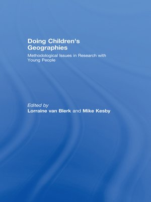 cover image of Doing Children's Geographies