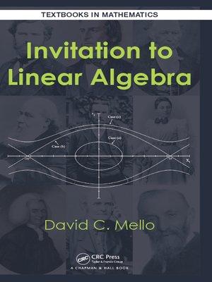 cover image of Invitation to Linear Algebra