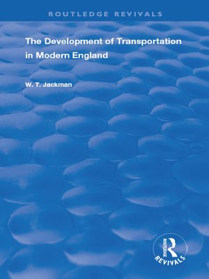 cover image of The Development of Transportation in Modern England