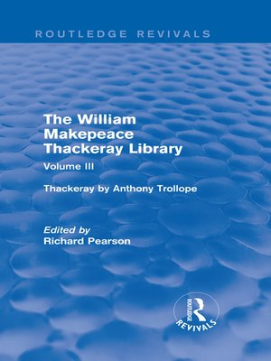 cover image of The William Makepeace Thackeray Library